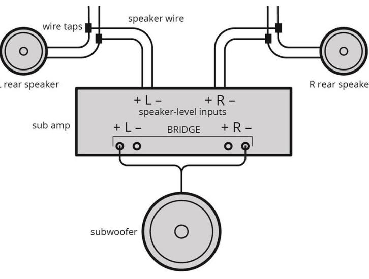 Two-channel-bridged amp
